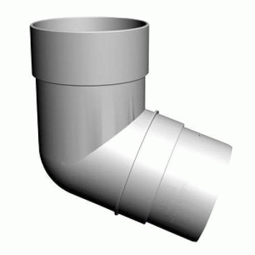 Колено сливное  ( 72°)  белый