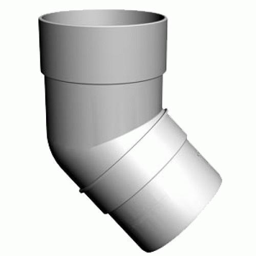 Колено трубы  ( 45°) белый